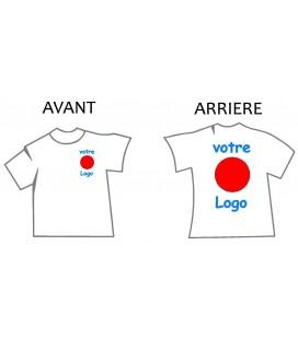 Tshirt Personnalisé coeur et dos texte et logos