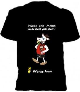 Tshirt Elsass Fever  Geiss gebt melich